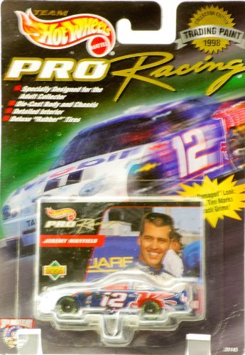 Wheels Hot Auto (1998 - Mattel - Team Hot Wheels - Pro Racing / Trading Paint - Jeremy Mayfield - #12 Mobil 1 - Ford Taurus - !:64 Scale Die Cast / Upper Deck Card - New - Out of Production - Limited Edition - Collectible)