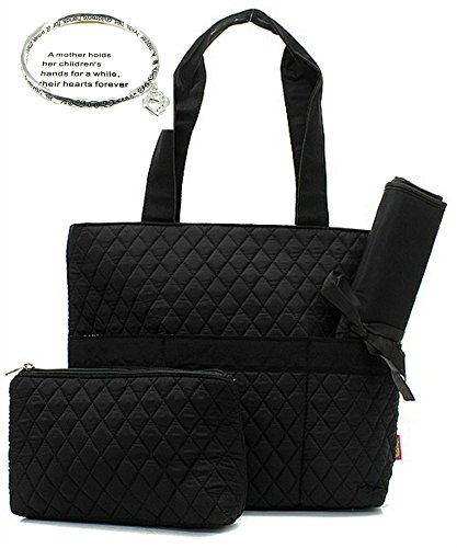 NGil Solid Black Quilted Diaper