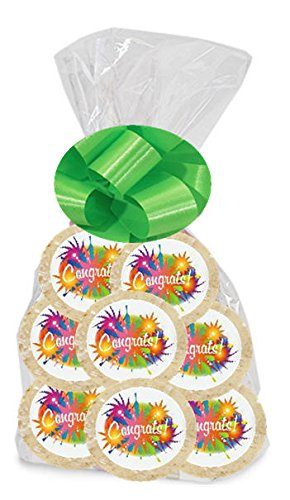 Congrats Fireworks 24Pack Freshly Baked Individually Wrapped Party Favor Sugar Cookies