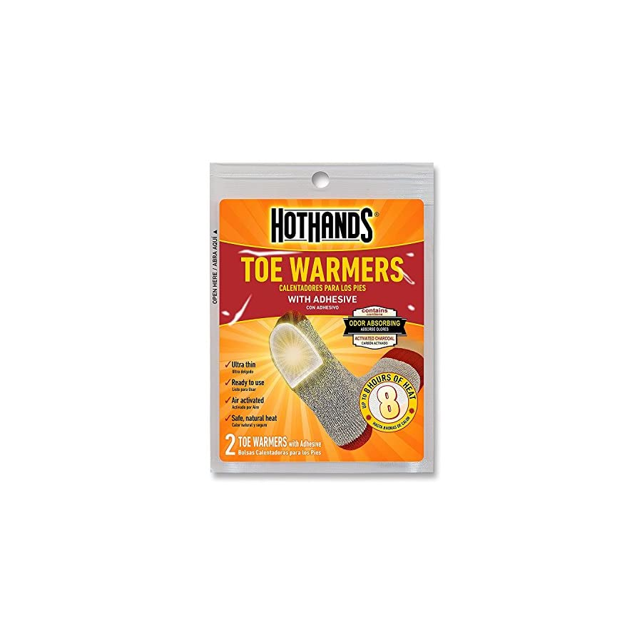 HotHands Toe Warmers Long Lasting Safe Natural Odorless Air Activated Warmers Up to 8 Hours of Heat 10 Pair