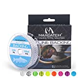 Maxcatch Braided Fly Line Backing for Fly Fishing 20/30lb 100yards (White, Yellow, Orange, Pink, Purple, Green,Black&White, Black&Yellow)