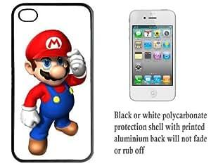iPhone 4 4S Printed Hard Case With Aluminium Insert Mario