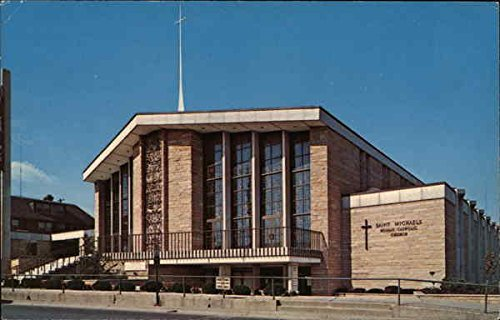 Saint Michael's Roman Catholic Church Flint, Michigan Original Vintage Postcard