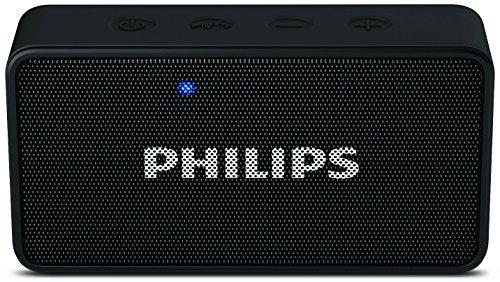 Renewed  Philips BT64B Portable Bluetooth Speakers  Black