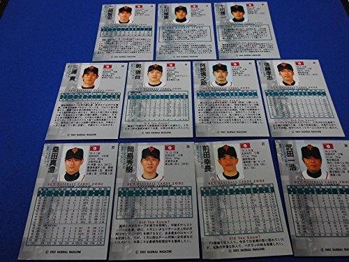 2002 BBMプロ野球カード 読売ジャイアンツ 11人セット