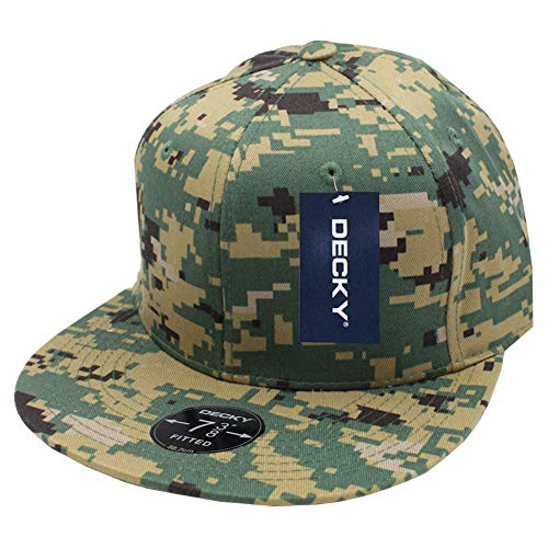 (DECKY Retro Fitted Cap-7 3/8-Green Pixel)