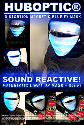 DJ Mask - Light Up Mask Magnetic Blue LED Mask