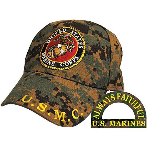 E Eagle Emblems CP00324 U.S. Marine Corp Logo Cap Digital Camo