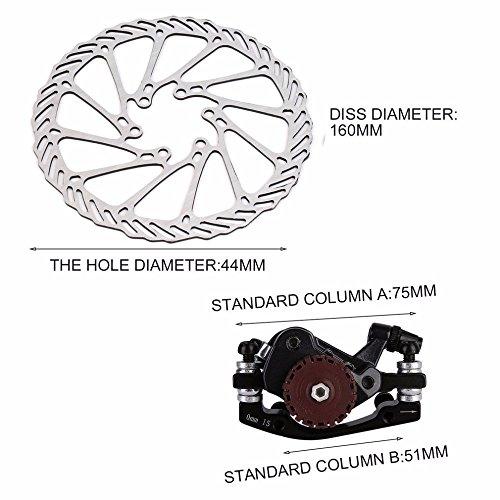 BB7 MTB Bike Brakes Disc Caliper Mechanical Front Wheel 160mm Rotor by Isguin (Image #1)