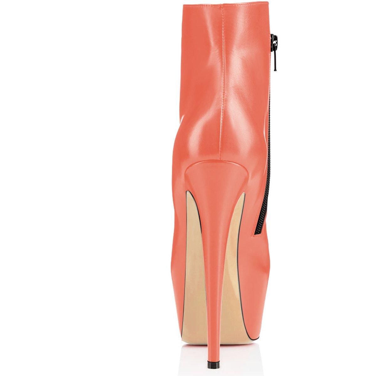 Elashe Ankle Stiefeletten Stiefel   15cmTrendige Damen Stiefeletten Ankle   Plateau Stiefel mit Absatz b2aae7