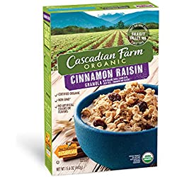 Cascadian Farm Organic Granola, Cinnamon Raisin Cereal, 15.6 oz (Pack of 6)