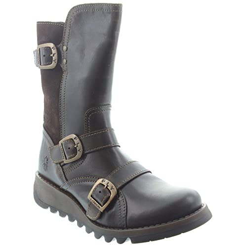 dcebbc63 Fly London - Ladies Selk Calf Boots in Dark Brown: Amazon.co.uk: Shoes &  Bags