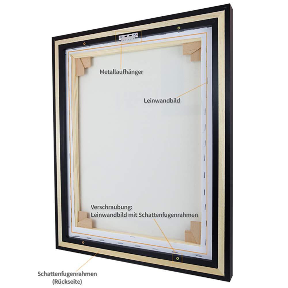 Amazon.de: Schattenfugen - Rahmen LEMGO 100 x 150 cm Schwarz (matt ...