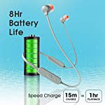 JBL Tune 115BT by Harman in-Ear Wireless Headphones with Deep Bass, 8-Hour Battery Life and Quick Charging (Grey)