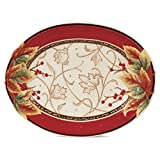 Bountiful Holiday Collection, Serving Platter, Red/White
