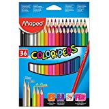 Maped Color'Peps Colored Pencils, Assorted Colors, Pack of 36 (832017ZV)