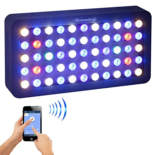 Roleadro Reef Led Light WiFi & Manual Control 165W,Aquarium Lighting LED Aquarium Light Full Spectrum for Reef Coral Fish