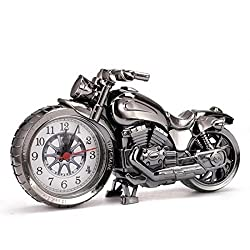 Motorcycle Alarm Clock Shape Creative Retro Gifts Upscale Furnishings Boutique Home Decorator
