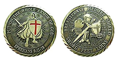 """Christian Religious """"Put on The Whole Armor of God"""" Collectible Challenge Coin/Logo Poker/Lucky (Collectible Armor)"""