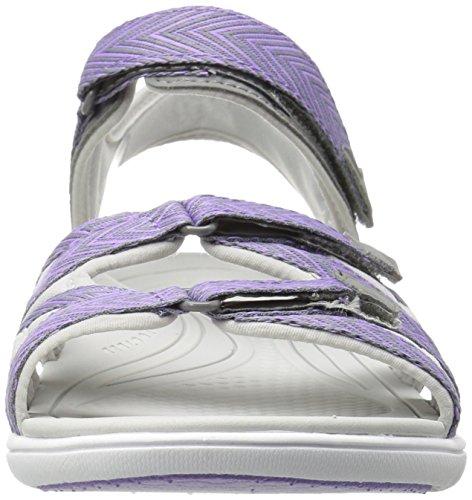 Ryka Womens Savannah Sandal Grey / Purpl
