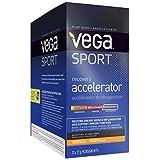 Vega Sport Post-Workout Recovery Accelerator Tropical (12 Count, 11.52oz) - Vegan, Non Dairy, Gluten Free, Pre Workout Recovery, BCAAs, Non GMO