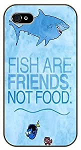 iPhone 5 / 5s Fish are friends not food - black plastic case / Walt Disney And Life Quotes, nemo, finding