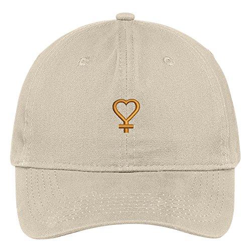 Trendy Apparel Shop Sailor Venus Symbol Embroidered Cap Premium Cotton Dad Hat - Stone for $<!--$16.99-->
