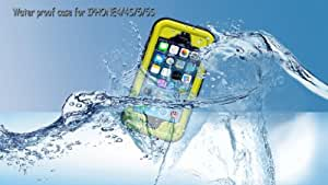 Underwater Snow Shock Dirt Water Proof Hard Cover Outdoor Case for iPhone 4/4S/5/5S-Yellow