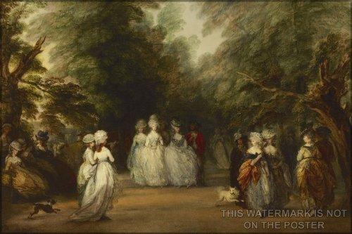 Poster Mall In St. James'S Park By Thomas Gainsborough
