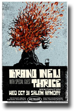 Brand New Poster - 11 x 17 Promo for a concert on the Deja Entendu Topur Jesse Lacey The Band Tree