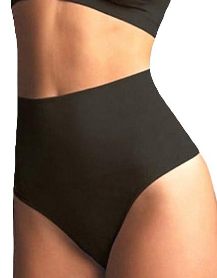 9571f397bf4 FLORATA Women Waist Cincher Girdle Tummy Control Slimmer Sexy Thong Panty  Shapewear Black