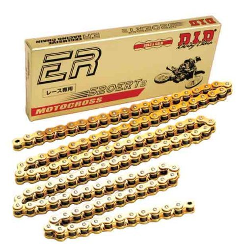 D.I.D 520 ERT2 Series Exclusive Racing Chain - 130 Links - Gold , Chain Length: 130, Chain Type: 520, Color: Gold, Chain Application: Offroad 520ERT2 G&G X 130