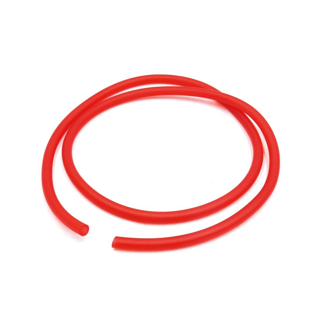 Sourcingmap 4Uds Manguera de Silicona Tubo de Gasolina Rojo para Moto 4,5mmx 8mm