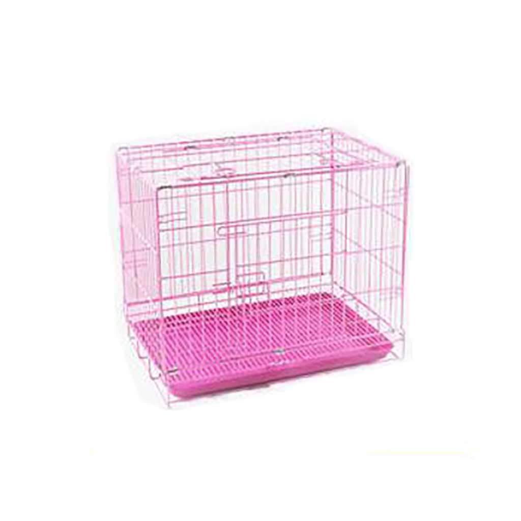 C 614350cm C 614350cm Pet fence dog fence Dog cage Small dog Medium dog Foldable solid durable Pet Isolation Predective railing Portable type (color   C, Size   61  43  50cm)