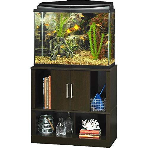 Espresso Aquarium Stand 29-37 Gallon Laminated MDF and Particleboard - Skroutz Deals