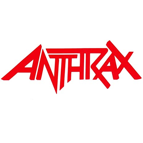 amazon com anthrax logo rock band symbol 6 decorative die cut rh amazon com Anthrax Not Man anthrax band logo image