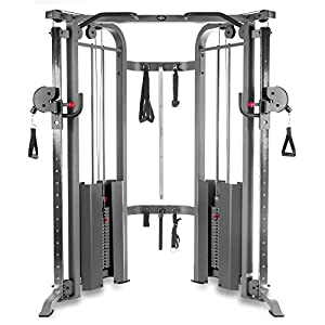 XMark Functional Trainer Cable Machine with Dual 200 lb Weight Stacks, 19 Adjustments, and Accessory Package, XM 7626 (Gray or White)