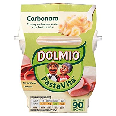Dolmio Pasta Carbonara Vita Microondas Listo 270g de comidas ...