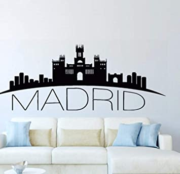 Pegatinas De Vinilo Sala De Estar, Dormitorio, Cocina España Madrid Skyline Wall Decal Ciudad Silueta Murales De Arte De Pared Para Decoración Del Hogar 36 * 93 Cm: Amazon.es: Bricolaje y herramientas