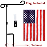 Oathx Garden Flag Pole Stand Durable Flagpole18 35.5' Yard Banner Pole Stands for Outdoor Hold Decorative Flags 12.5' 18' Stake Holder 10 Sec to Assemble