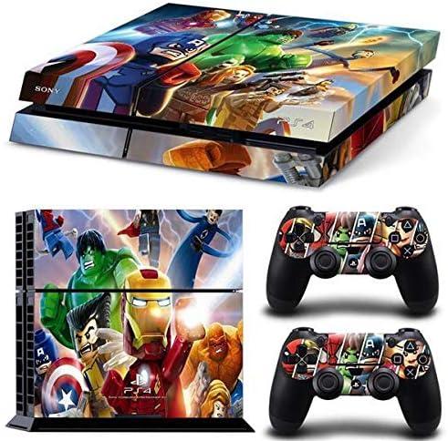 thtb Playstation 4 Controlador + 2 pegatinas – Protector de pantalla Juego LEGO Marvel Avengers/PS4: Amazon.es: Juguetes y juegos