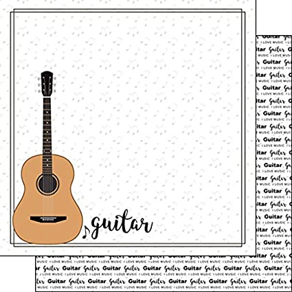 Amazon Guitar Notes Music 38760 12 Inch X 12 Inch Double