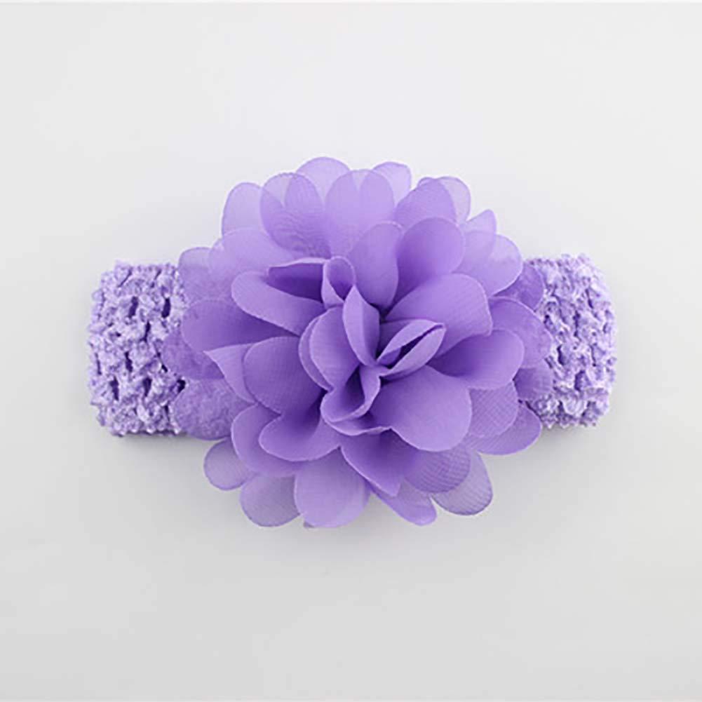 Flyes b/éb/é Fille Bandeaux Fleur en Mousseline Accessoires Cheveux Dentelle Band Nouveau-n/é Headwear
