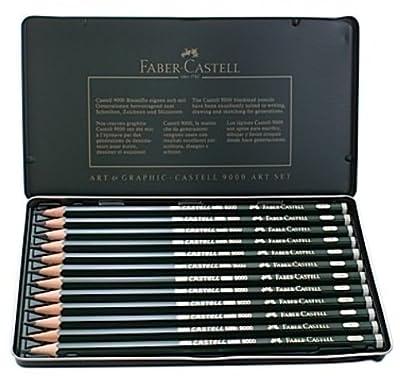 Faber-Castell 9000 Graphite Sketch Pencil Sets - 8B - 2H 1 pcs sku# 1831487MA