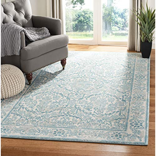Cheap Safavieh Evoke Collection EVK242C Vintage Ivory and Light Blue Area Rug (11′ x 15′)
