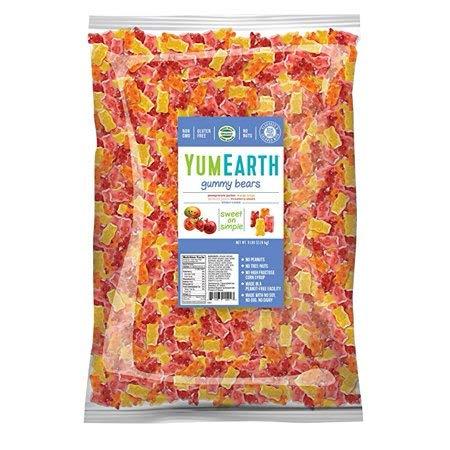 (YumEarth, Assorted Flavors Gummy Bears Bulk Candy, 5 Lb)