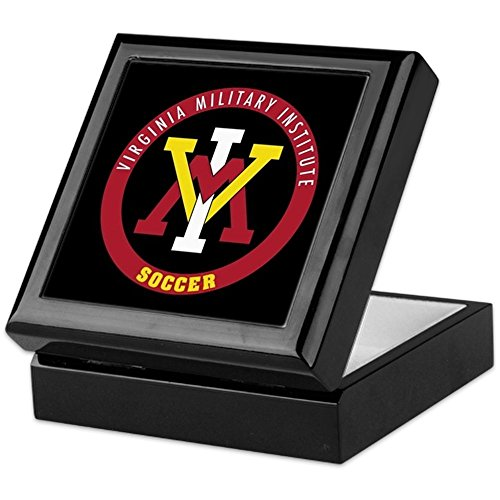 CafePress - VMI Virginia Military Institute Cadets Soccer - Keepsake Box, Finished Hardwood Jewelry Box, Velvet Lined Memento Box