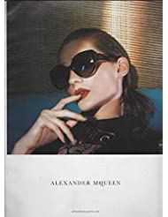 a8c39a4054 PRINT AD With Karolin Wolter For 2015 Alexander McQueen Black Frame  Sunglasses