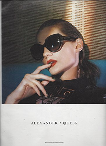PRINT AD With Karolin Wolter For 2015 Alexander McQueen Black Frame - Alexander Mcqueen Sale