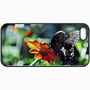 Personalized Protective Hardshell Back Hardcover For iPhone 5/5S, A Sip Of Summer Design In Black Case Color